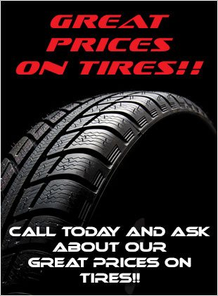 Great prices on tires!